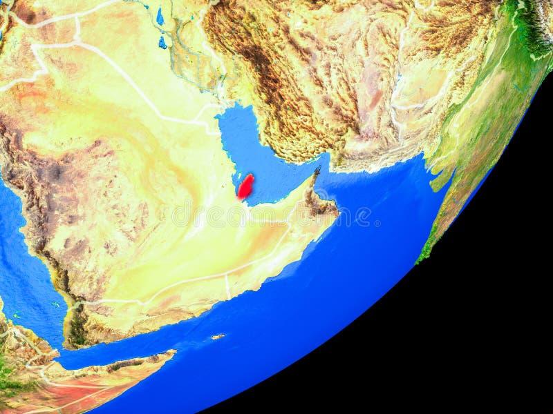 Qatar en la tierra del espacio libre illustration