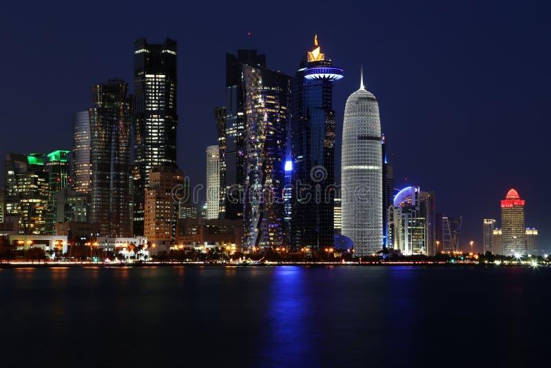 Qatar: Handelscentrum van Doha royalty-vrije stock fotografie