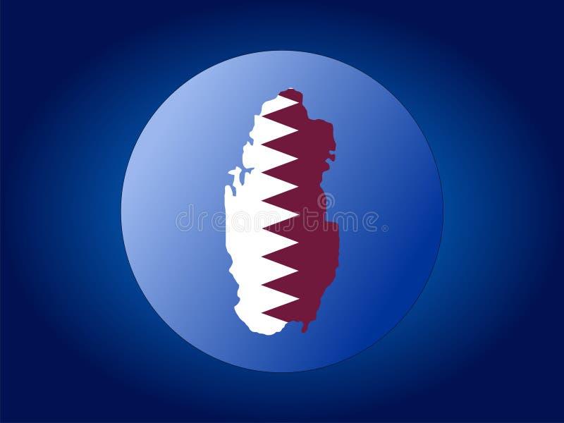 Qatar-Kugel stock abbildung