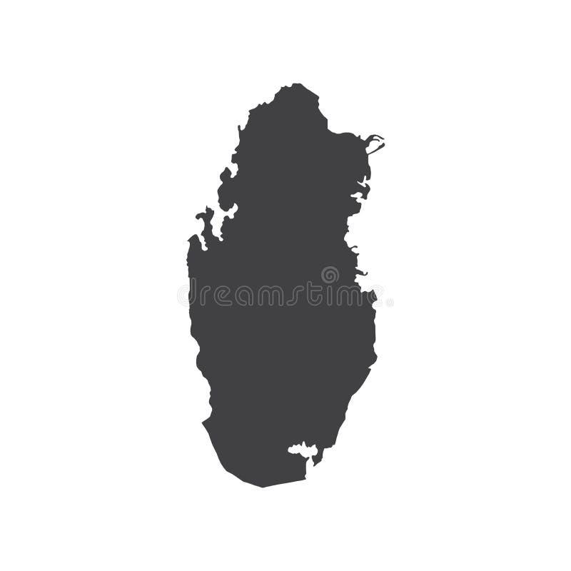 Qatar map silhouette royalty free illustration