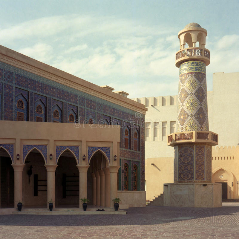 Qatar mosque stock image