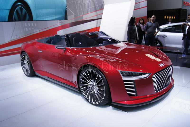 Qatar Motorshow 2011 - Audi E-tron stock photo