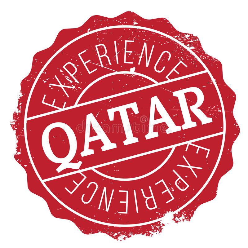Qatar stamp rubber grunge. Qatar stamp. Grunge design with dust scratches. Effects can be easily removed for a clean, crisp look. Color is easily changed stock images