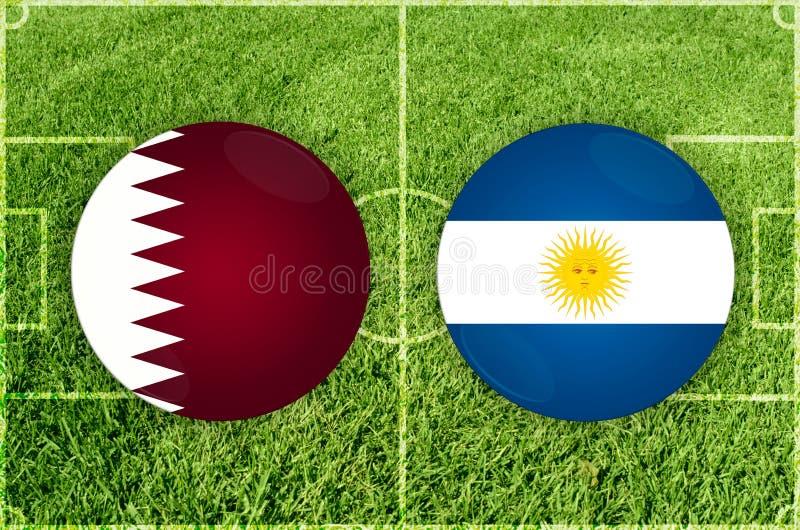Qatar vs den Argentina fotbollsmatchen vektor illustrationer