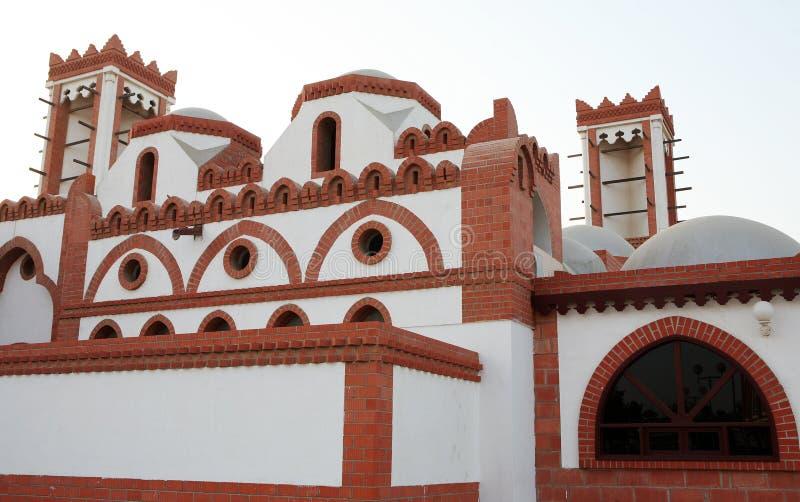 Qatari architecture royalty free stock photography