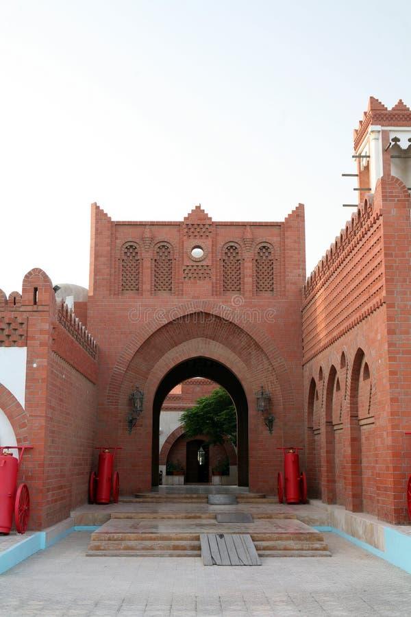 Qatari Architektur 2 lizenzfreie stockbilder