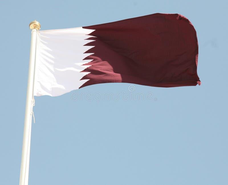 Qatari flag stock photos