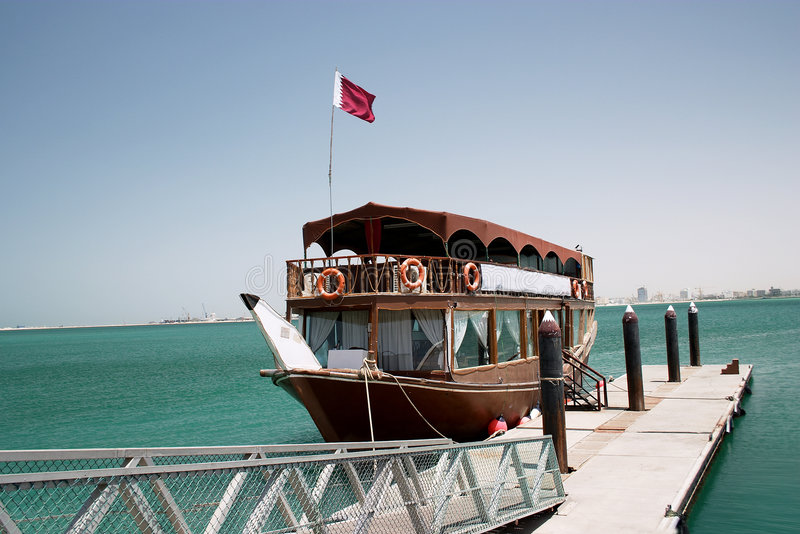 Download Qatari pleasure dhow stock image. Image of arabia, dhow - 37237