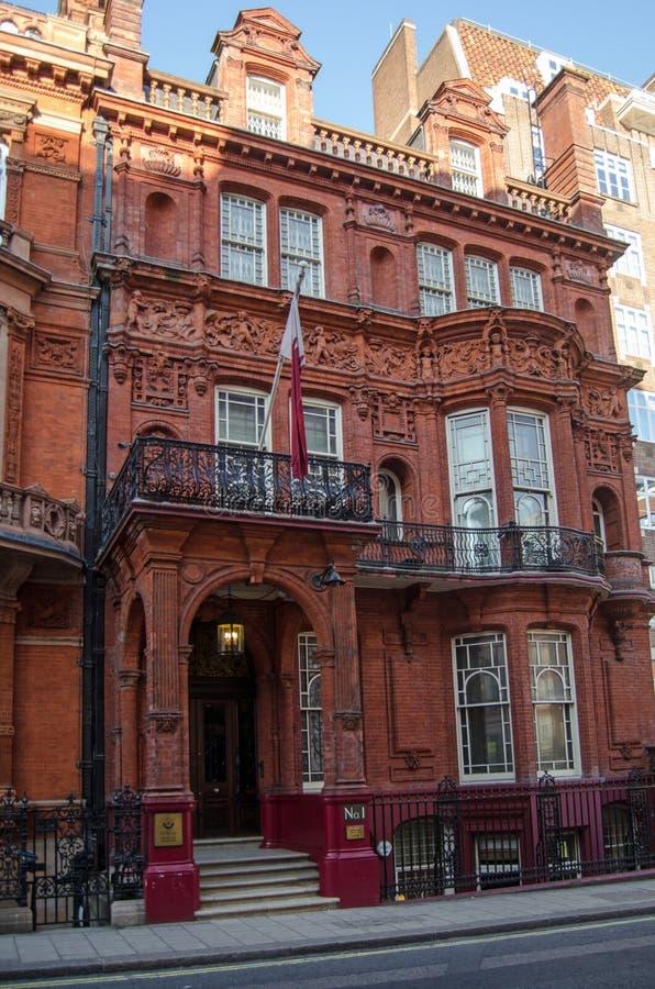 Qatarisk ambassad, London fotografering för bildbyråer