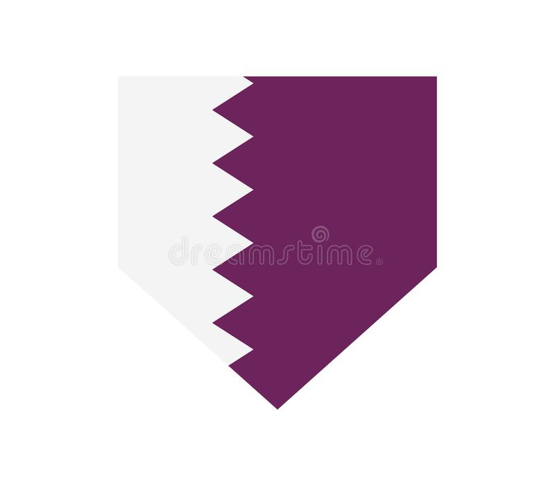 Qatarisk flagga vektor illustrationer