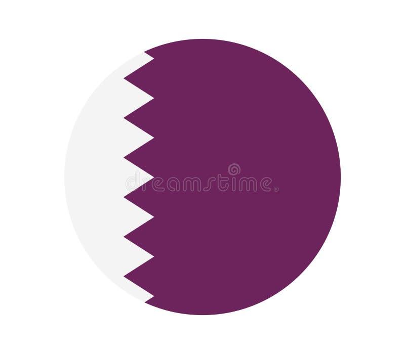 Qatarisk flagga royaltyfri illustrationer
