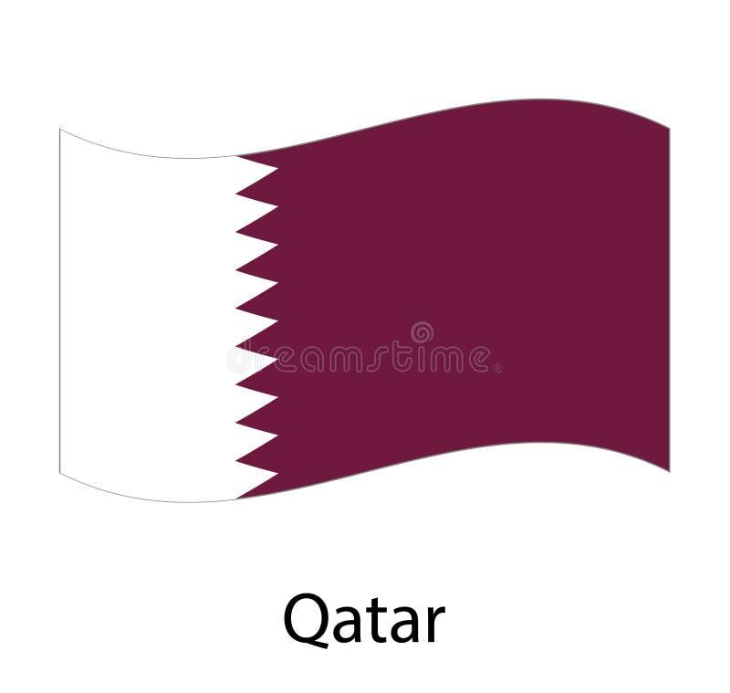 Qatarisk nationell dag qatarisk självständighetsdagen royaltyfri illustrationer