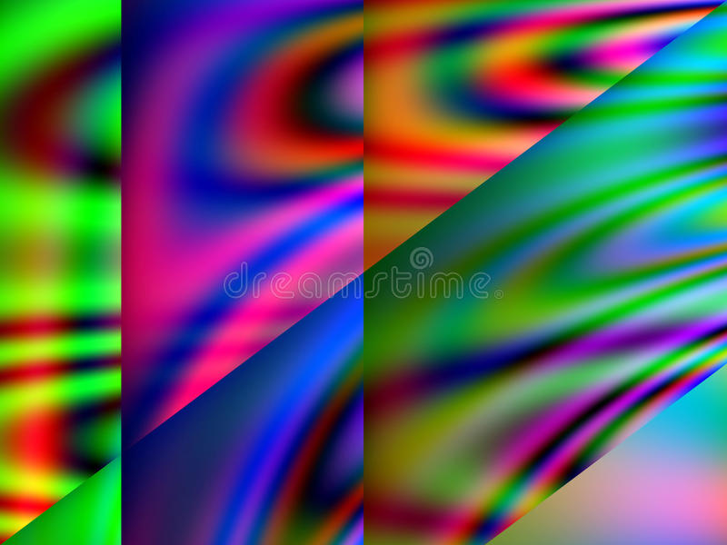 Download Qbist Odd Shapes And Pattern Abstract Background Stock Illustration - Illustration: 55446519