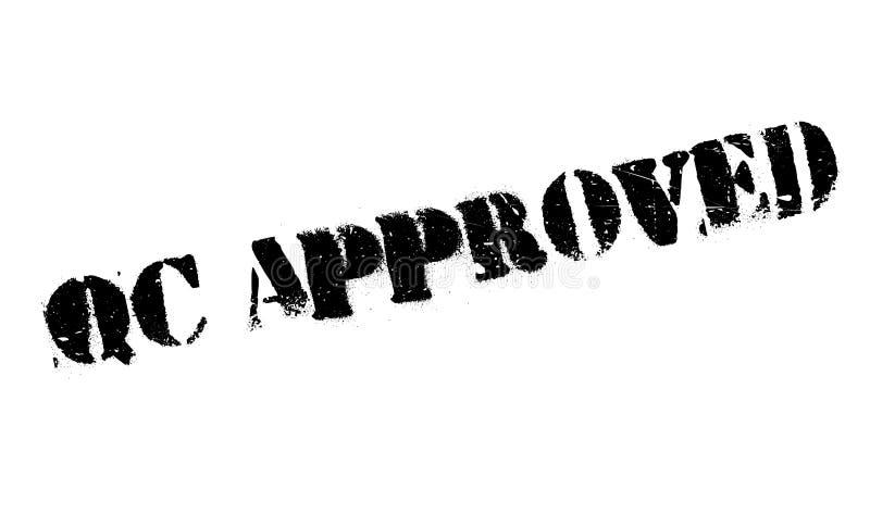 Qc批准的不加考虑表赞同的人 向量例证