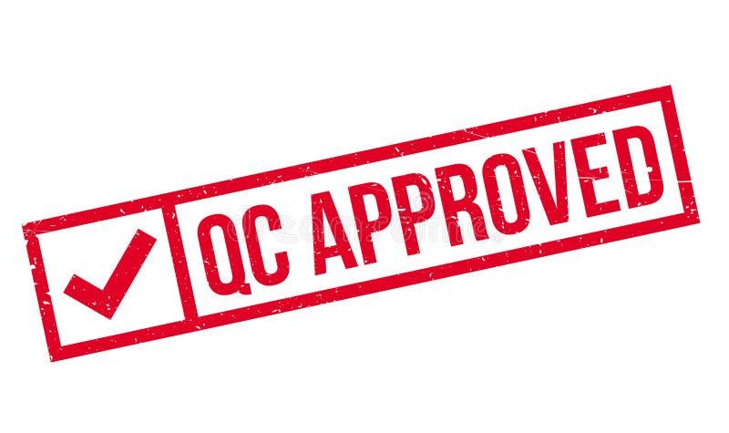 Qc批准的不加考虑表赞同的人 库存例证