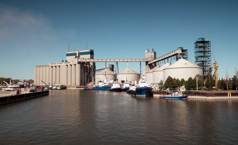 Qc Канада гавани Sorel-Трейси промышленный стоковое фото