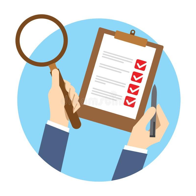 Qc质量管理检查 向量例证