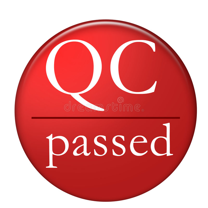 QC Passed stock illustration