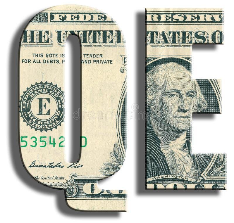 QE - Facilitación cuantitativa - política monetaria del banco central fotografía de archivo libre de regalías