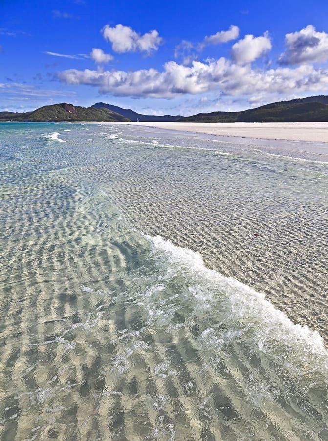 QE het strandgolf van FI Whitehaven vert stock foto's