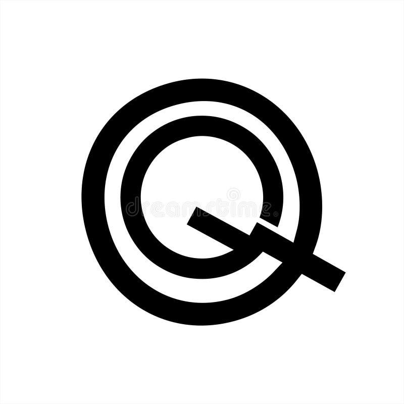 QG, GQ, letra de la compa??a de la letra de iniciales de GQO ilustración del vector