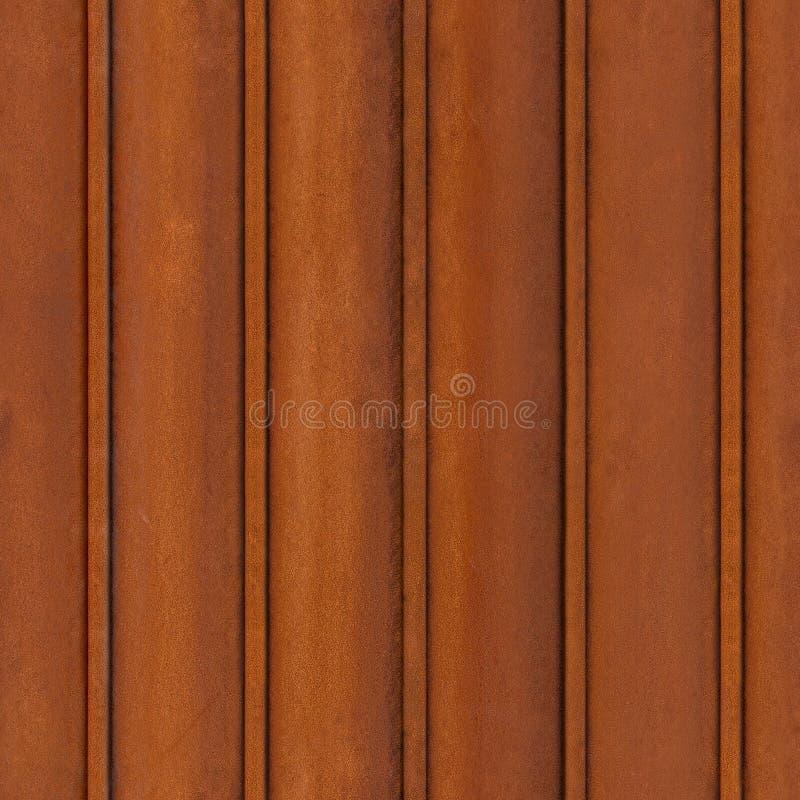 QG sans couture, palplanche rouillée de fer de texture tileable photographie stock