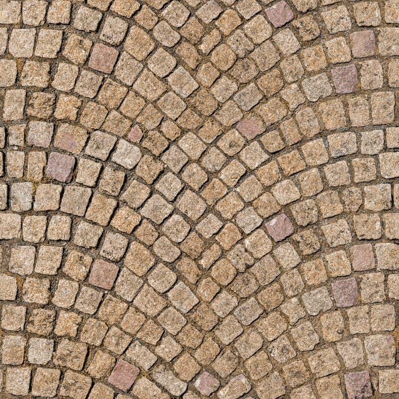 QG sans couture, trottoir décoratif de pavé rond de texture tileable photos stock