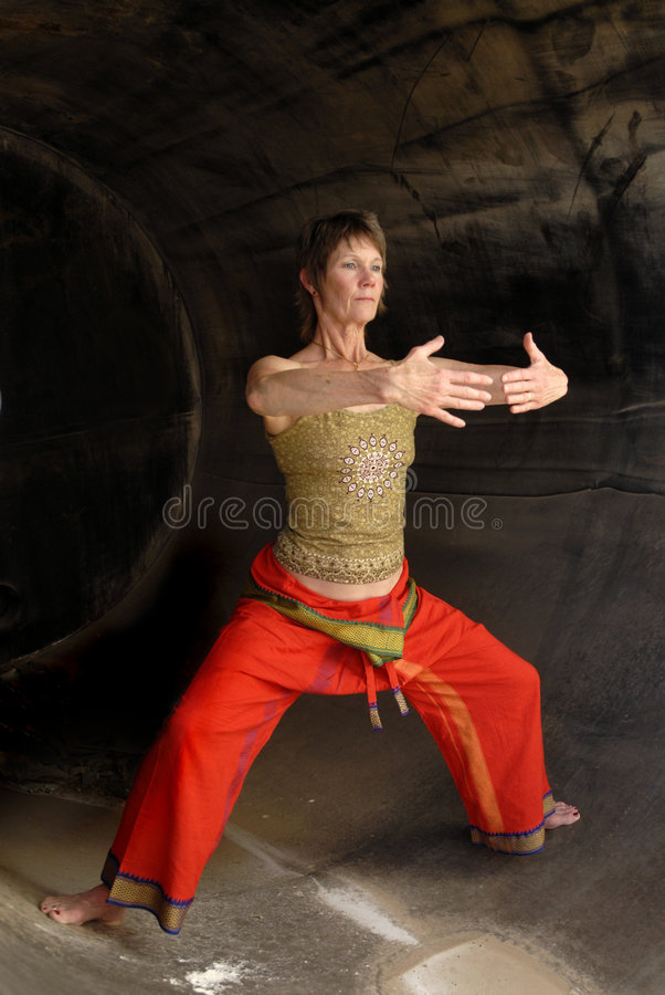Qi gong seniora kobieta obrazy stock