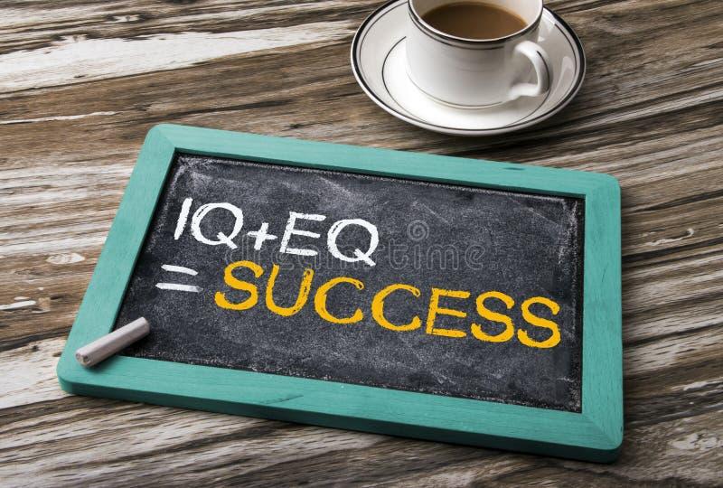 QI plus le succès d'égal d'EQ photo libre de droits