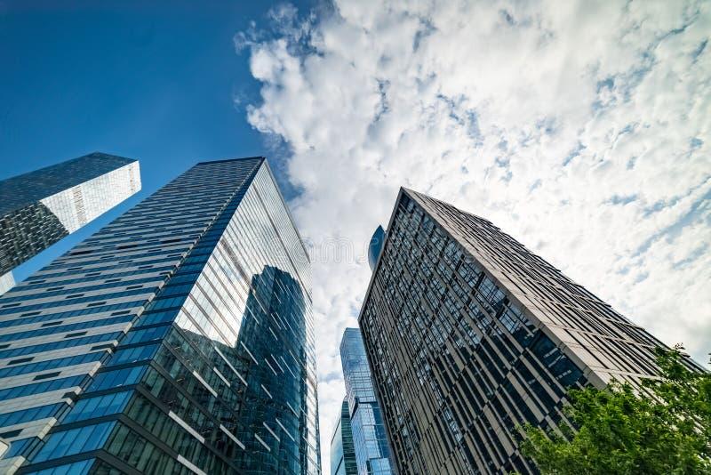 QI-quart — complexe multifonctionnel situé sur la 11ème section du centre international d'affaires de Moscou photographie stock