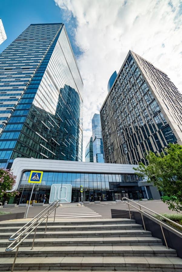 QI-quart — complexe multifonctionnel situé sur la 11ème section du centre international d'affaires de Moscou photos libres de droits