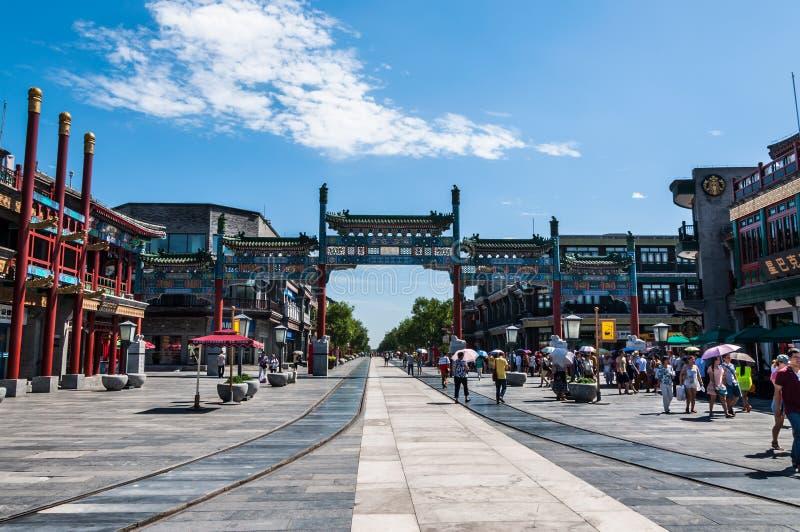 Qianmen-Straße stockfotos
