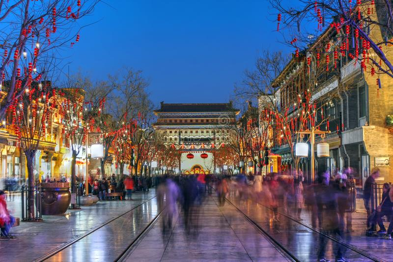 Qianmen street, Beijing, China royalty free stock photo