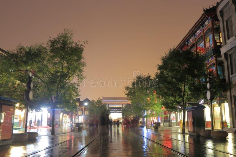 Qianmen street cityscape Beijing China. Qianmen street cityscape in Beijing China royalty free stock photos