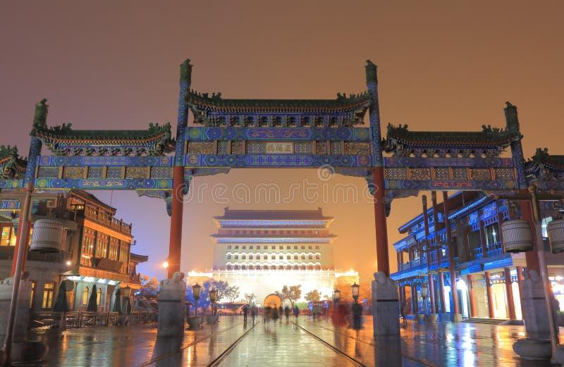 Qianmen street cityscape Beijing China. Qianmen street cityscape in Beijing China stock photos