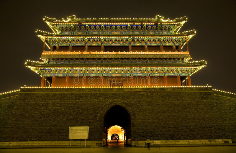 Download Qianmen Zhengyang Gate Tiananmen Beijing Stock Image - Image: 6635249