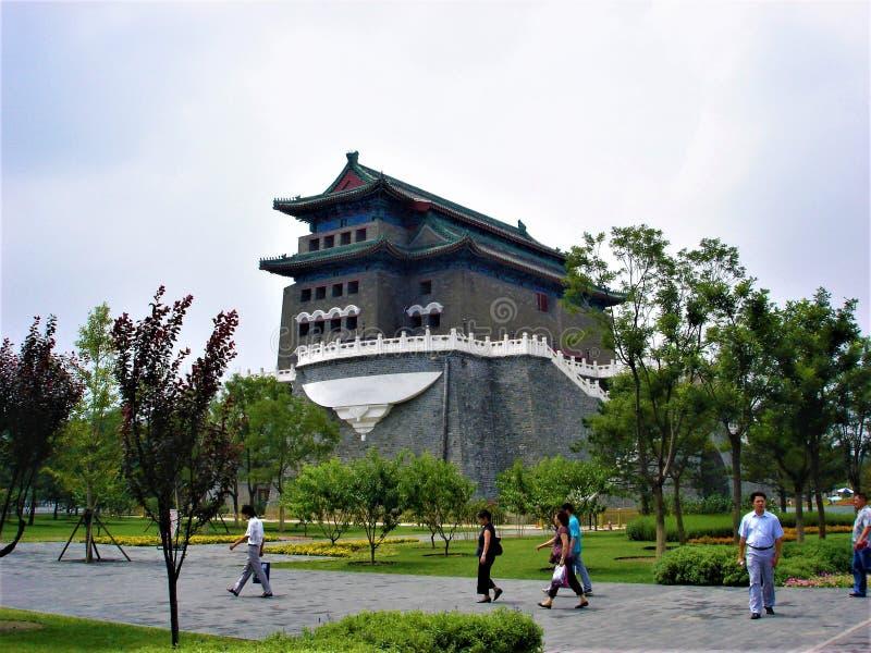 Qianmen of Zhengyangmen in de stad van Peking, China Geschiedenis en toerisme stock foto's