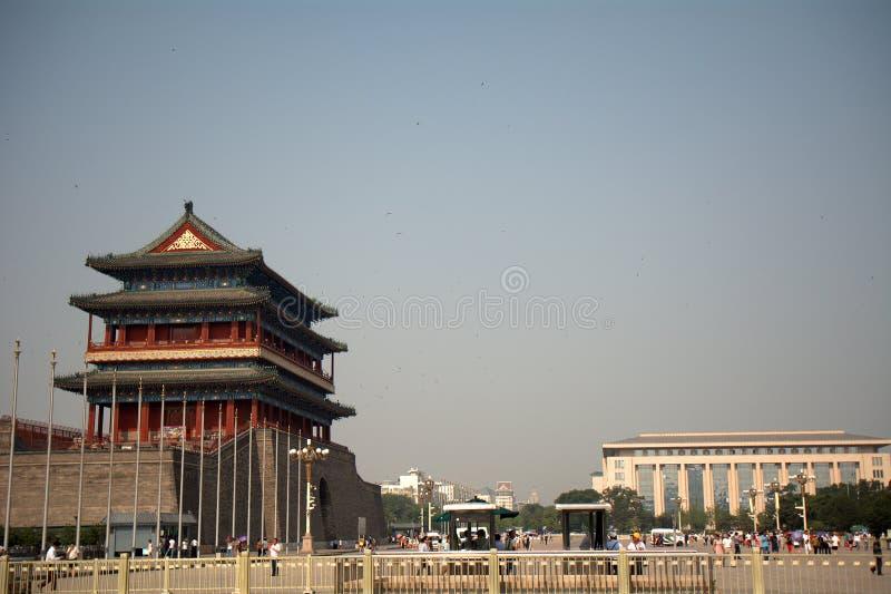 Qianmenpoort, Peking, China stock foto