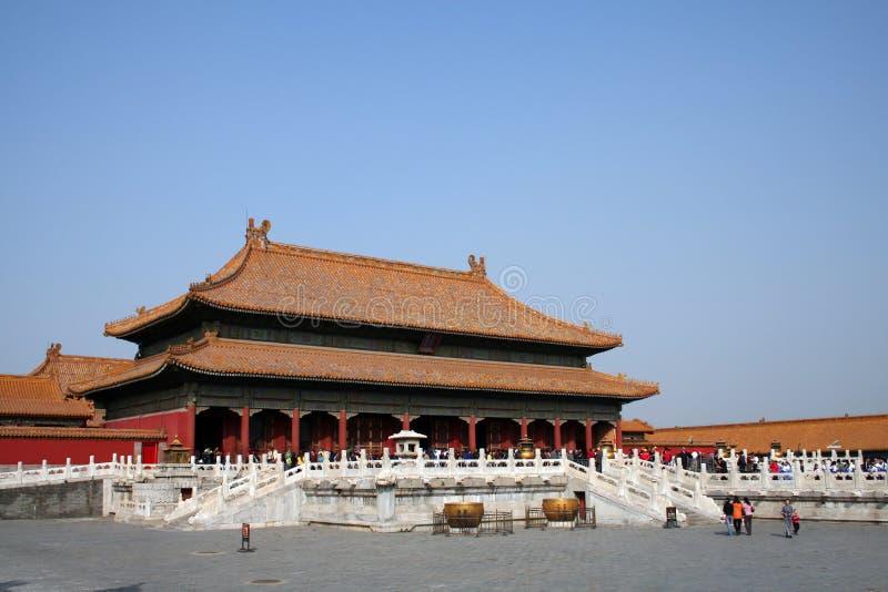 QianQing Palast stockbilder