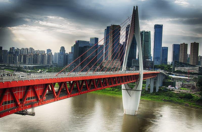 Qiansimen Jialing Jiang River Bridge Chongqing China imagens de stock