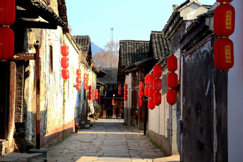 Qianyang forntida stad i Kina arkivfoto