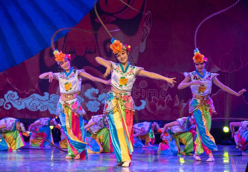 Qiao Hua Dan(one)-ale role in Chinese opera-Chinese classical dance. This program has successfully integrated the elements of Beijing opera art, and royalty free stock image