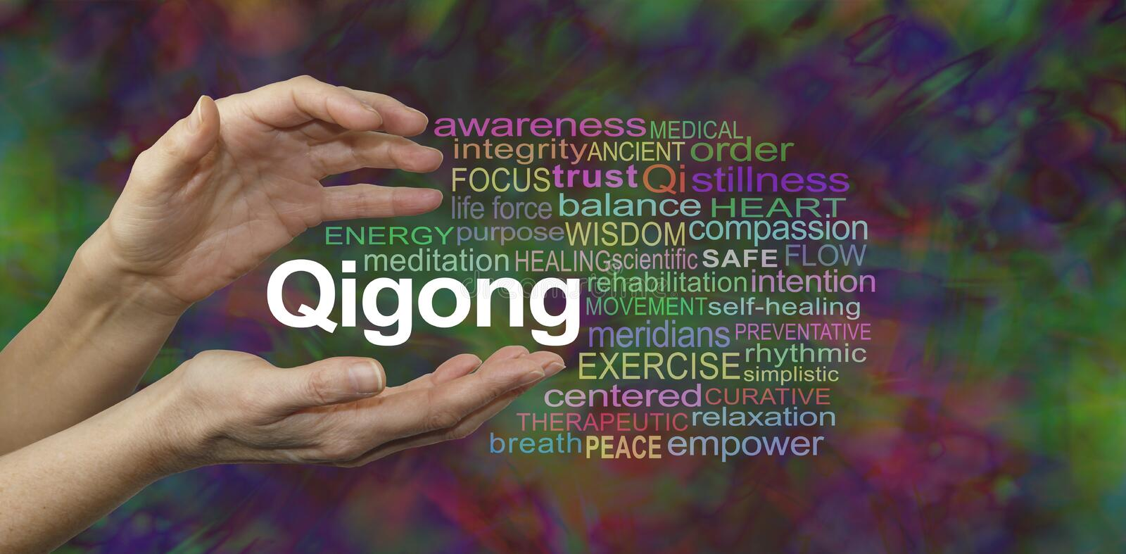 Qigong Healing word cloud stock illustration