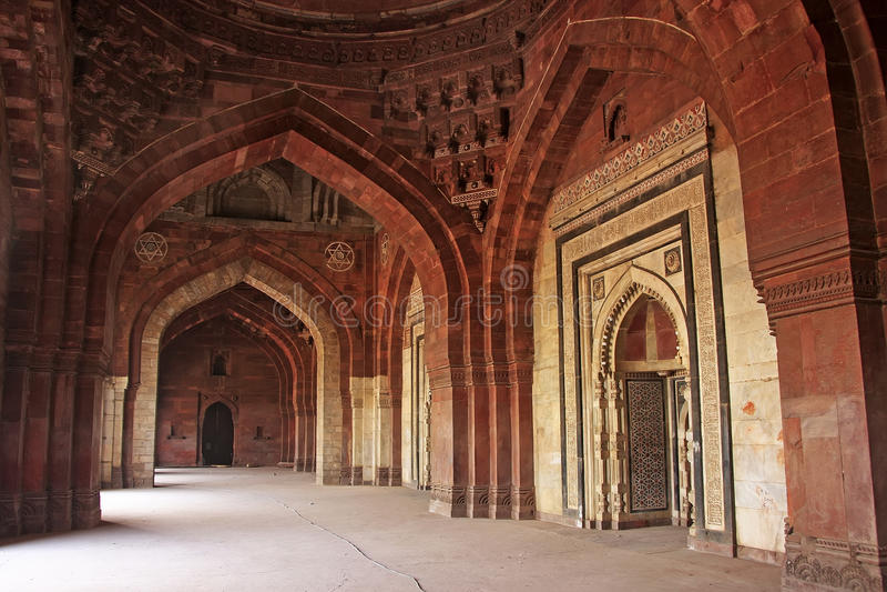 Qila-i-kunamoschee, Purana Qila, Neu-Delhi lizenzfreie stockfotografie