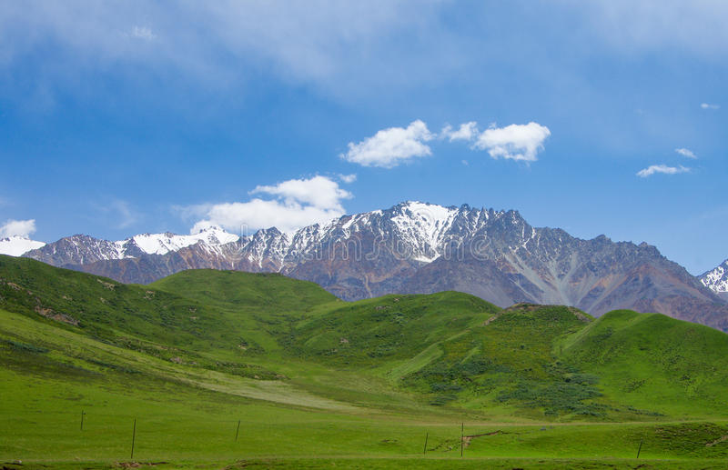 Qilian berg royaltyfri bild