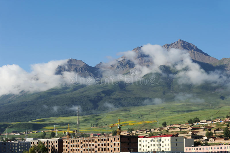 Qilian mountains. In qinghai,china stock photography