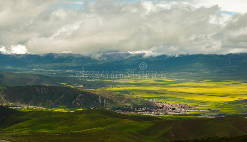 Qilian mountains stock photography