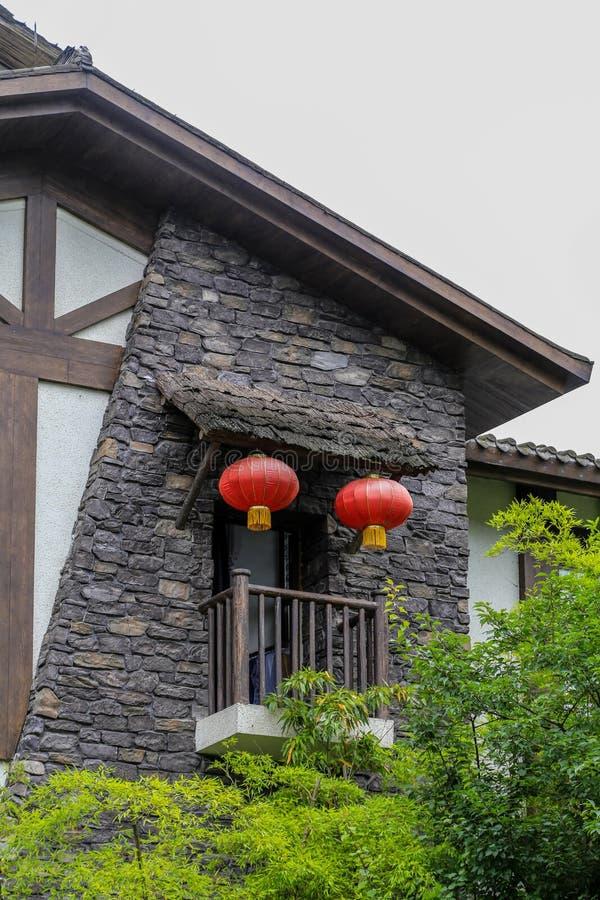Qiliping-Erholungsort im Emei Shan, Sichuan, Porzellan lizenzfreie stockfotos