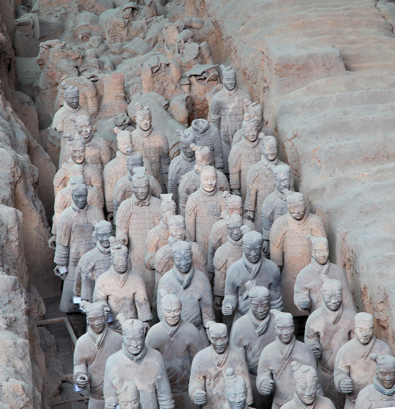 Download Qin Dynasty Terracotta Army, Xian (Sian), China Stock Image - Image: 36992383