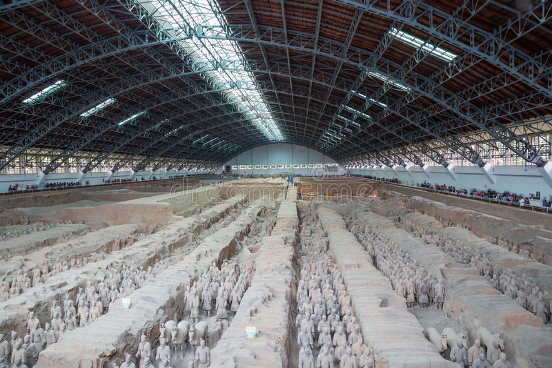 Download Qin Dynasty Terracotta Army, Xian (Sian), China Stock Photo - Image of province, military: 36992420
